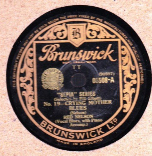 Red Nelson - Crying Mother Blues - Brunswick 03508